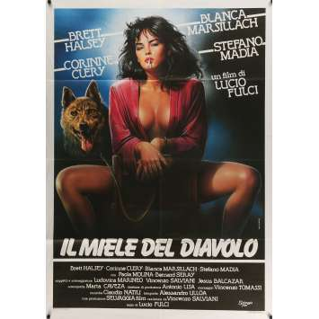 PLAISIRS PERVERS Affiche de film 100x140 cm - 1986 - Corinne Cléry, Lucio Fulci