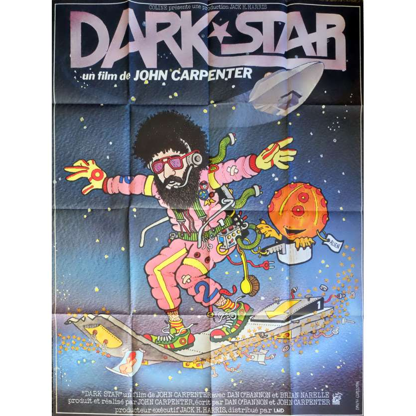 DARK STAR Movie Poster 47x63 in. French - 1980 - John Carpenter, Dan O'Bannon