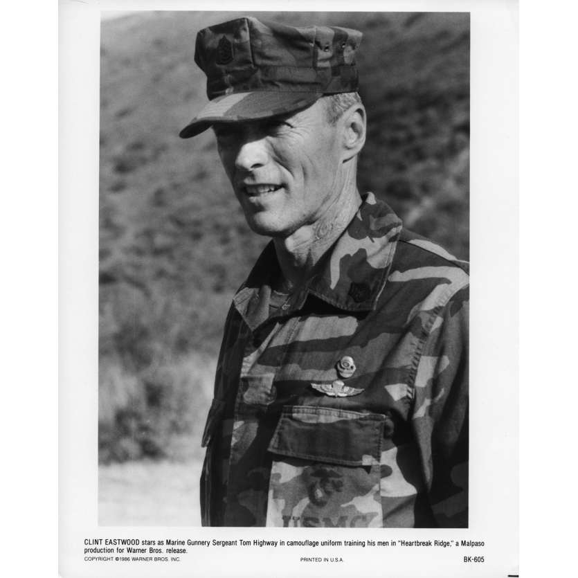 HEARTBREAK RIDGE Movie Still N5 8x10 in. USA - 1986 - Clint Eastwood, Mario Van Peebles