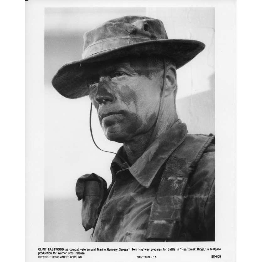 HEARTBREAK RIDGE Movie Still N4 8x10 in. USA - 1986 - Clint Eastwood, Mario Van Peebles