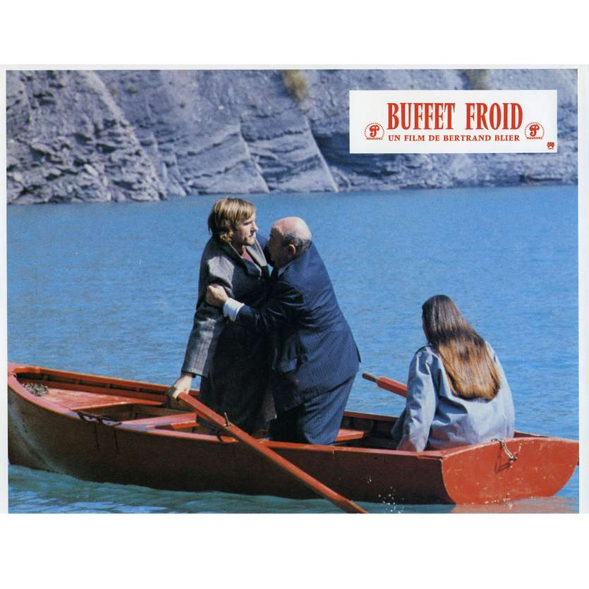 BUFFET FROID Lobby Card N2 9x12 in. French - 1979 - Bertrand Blier, Gérard Depardieu