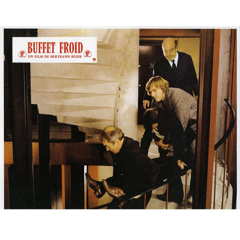 BUFFET FROID Lobby Card N3 9x12 in. French - 1979 - Bertrand Blier, Gérard Depardieu