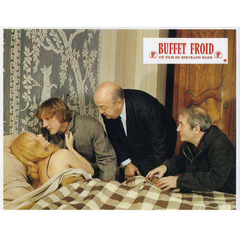 BUFFET FROID Lobby Card N8 9x12 in. French - 1979 - Bertrand Blier, Gérard Depardieu