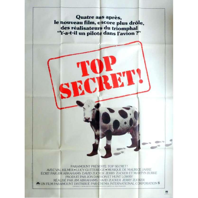 TOP SECRET Movie Poster 47x63 in. French - 1984 - David Zucker, Val Kilmer