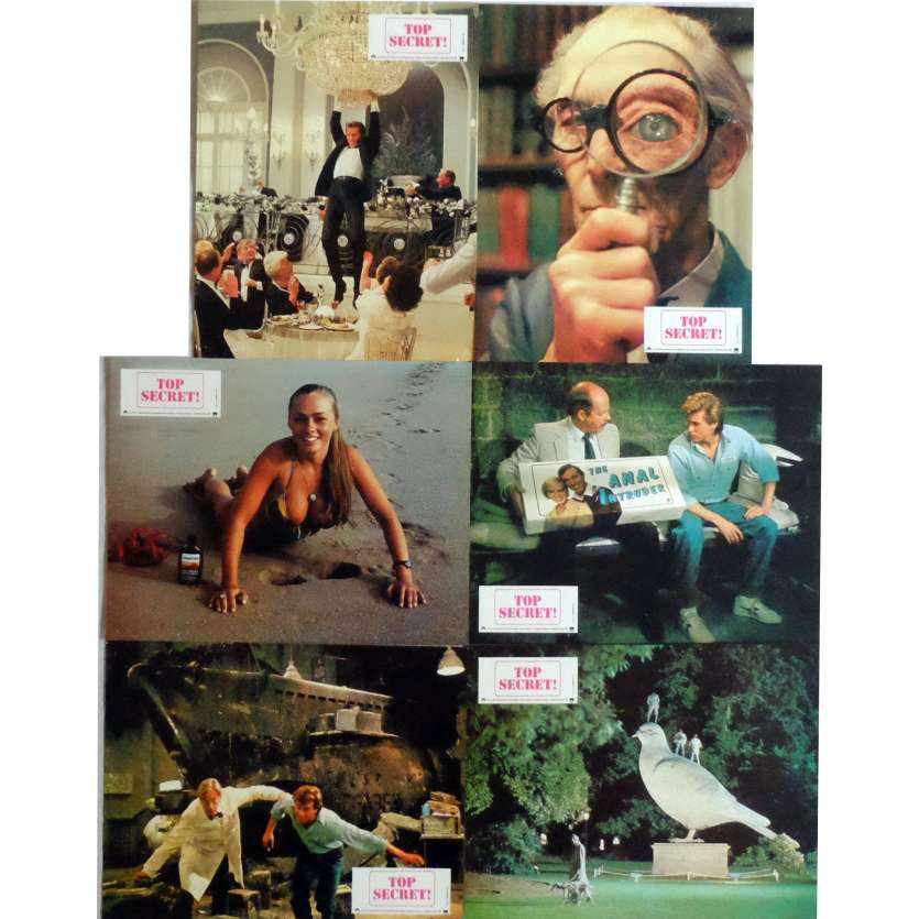 TOP SECRET Lobby Cards x6 Jeu A 9x12 in. French - 1984 - David Zucker, Val Kilmer