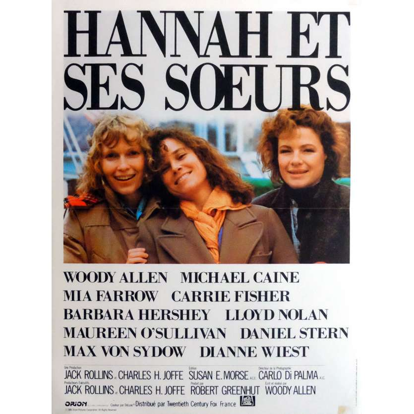 HANNAH AND HER SISTERS Movie Poster 15x21 in. French - 1986 - Woody Allen, Michael Caine