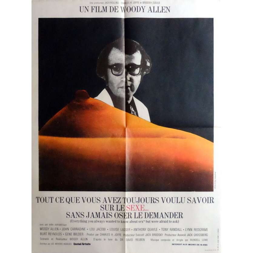 EVERYTHING YOU ALWAYS WANTED TO KNOW ABOUT SEX Movie Poster 23x32 in. French - 1973 - Woody Allen, Gene Wilder