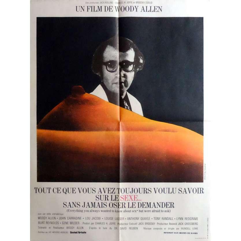 TOUT CE QUE VOUS AVEZ VOULU SAVOIR SUR LE SEXE Affiche de film 60x80 cm - 1973 - Gene Wilder, Woody Allen