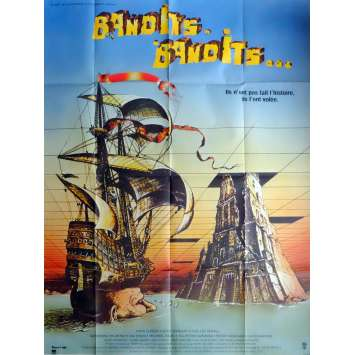 TIME BANDITS Movie Poster 47x63 in. French - 1981 - Terry Gilliam, Sean Connery