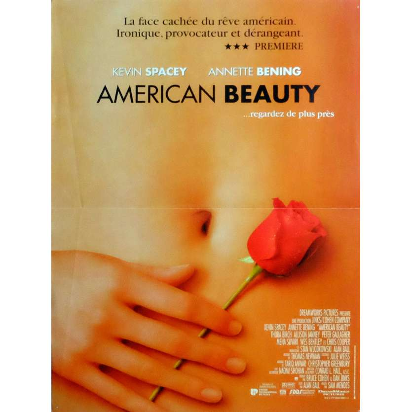 AMERICAN BEAUTY Movie Poster 15x21 in. French - 1999 - Sam Mendes, Kevin Spacey