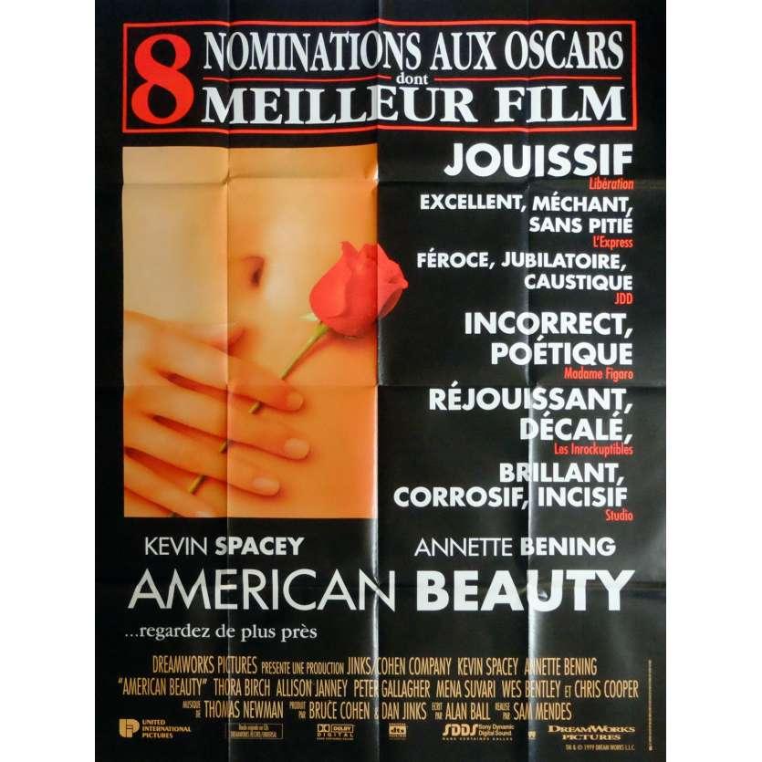 AMERICAN BEAUTY Affiche de film 120x160 cm - 1999 - Kevin Spacey, Sam Mendes