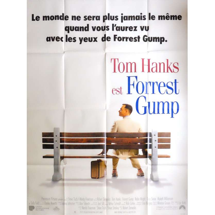 FORREST GUMP Movie Poster 47x63 in. French - 1994 - Robert Zemeckis, Tom Hanks