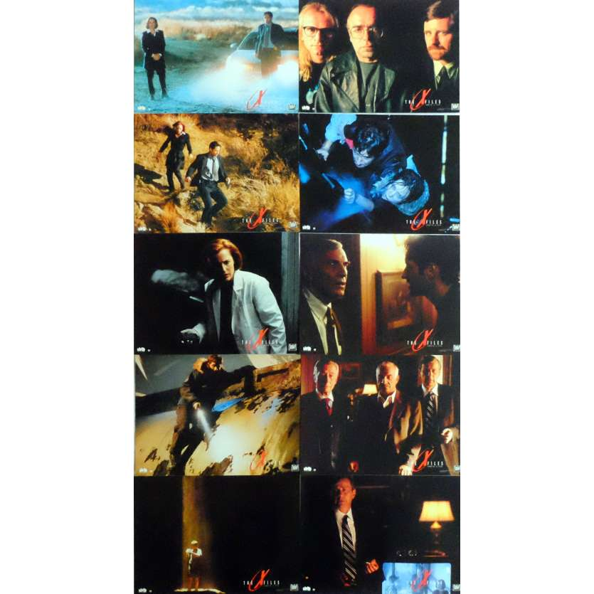 X-FILES Lobby Cards x10 9x12 in. French - 1998 - Rob Bowman, David Duchovny