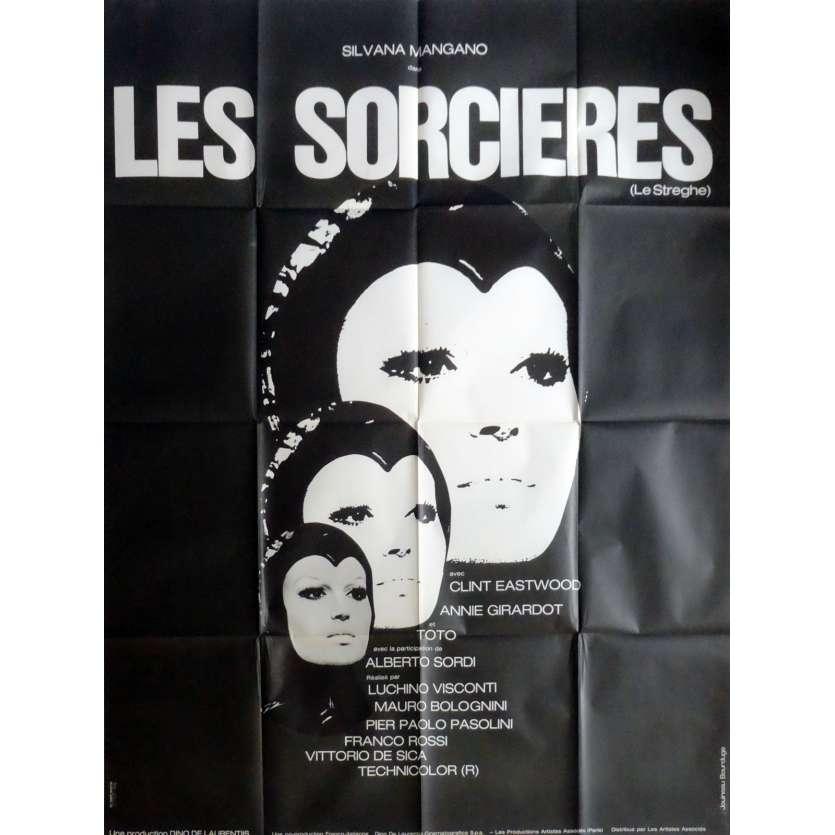 LES SORCIERES Affiche de film 120x160 cm - 1967 - Silvana Mangano, Pier Paolo Pasolini