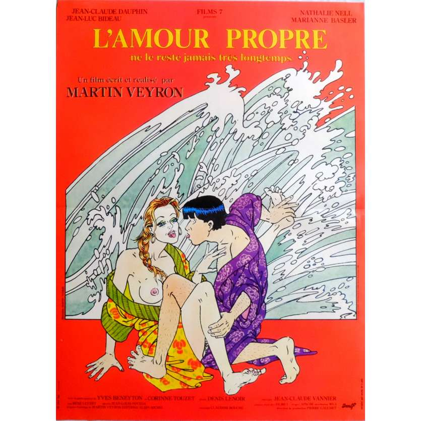 L'AMOUR PROPRE Movie Poster 15x21 in. French - 1985 - Martin Veyron, Jean-Luc Bideau