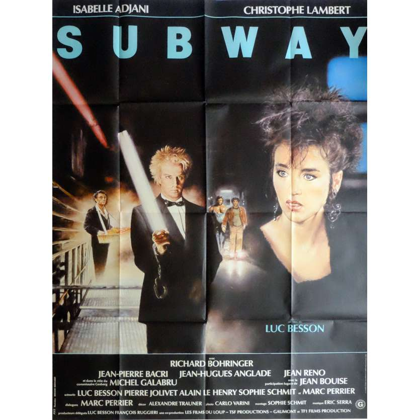 SUBWAY Movie Poster 47x63 in. French - 1985 - Luc Besson, Isabelle Adjani