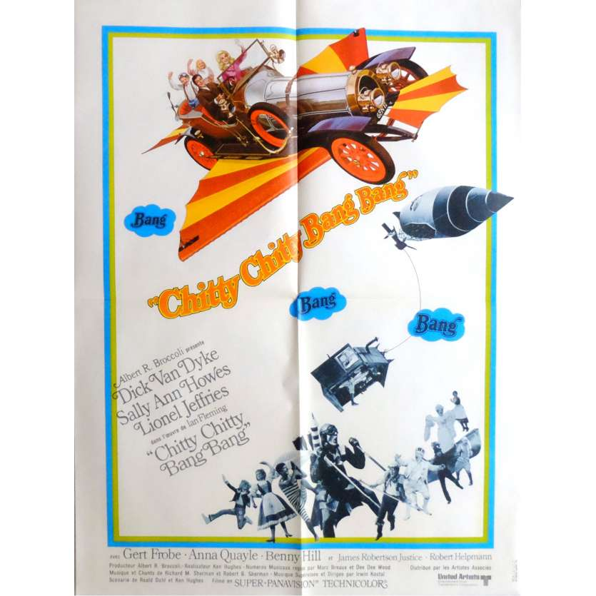 CHITTY CHITTY BANG BANG Movie Poster 23x32 in. French - 1968 - Ken Hughes, Dick Van Dyke