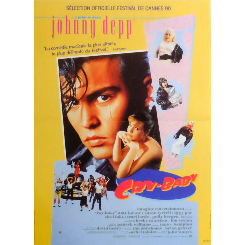 CRY BABY Movie Poster 15x21 in. French - 1990 - John Waters, Johnny Depp