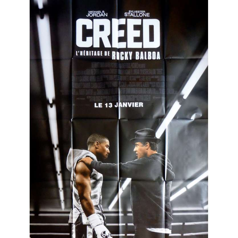 CREED Movie Poster 47x63 in. French - 2015 - Ryan Coogler, Sylvester Stallone