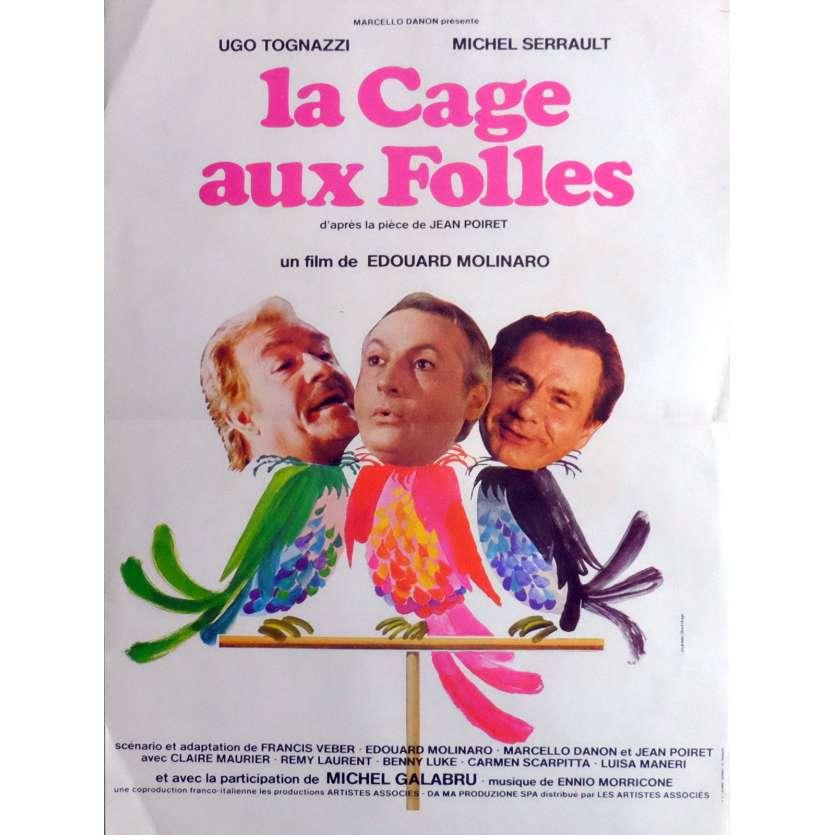 LA CAGE AUX FOLLES Affiche de film 40x60 cm - 1978 - Michel Serrault, Edouard Molinaro