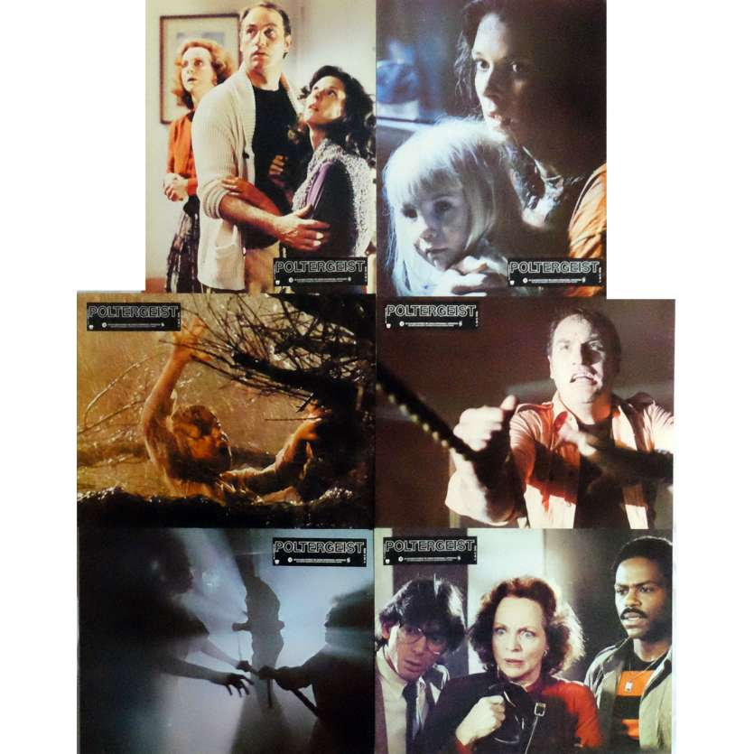 POLTERGEIST Lobby Cards x6 9x12 in. French - 1982 - Steven Spielberg, Heather o'rourke