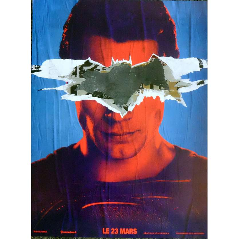 BATMAN VS SUPERMAN Movie Poster SM Style 15x21 in. French - 2016 - Zack Snyder, Ben Affleck