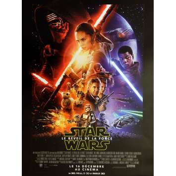 STAR WARS - THE FORCE AWAKENS VII 7 Original French Movie Poster, ROLLED, Mint !