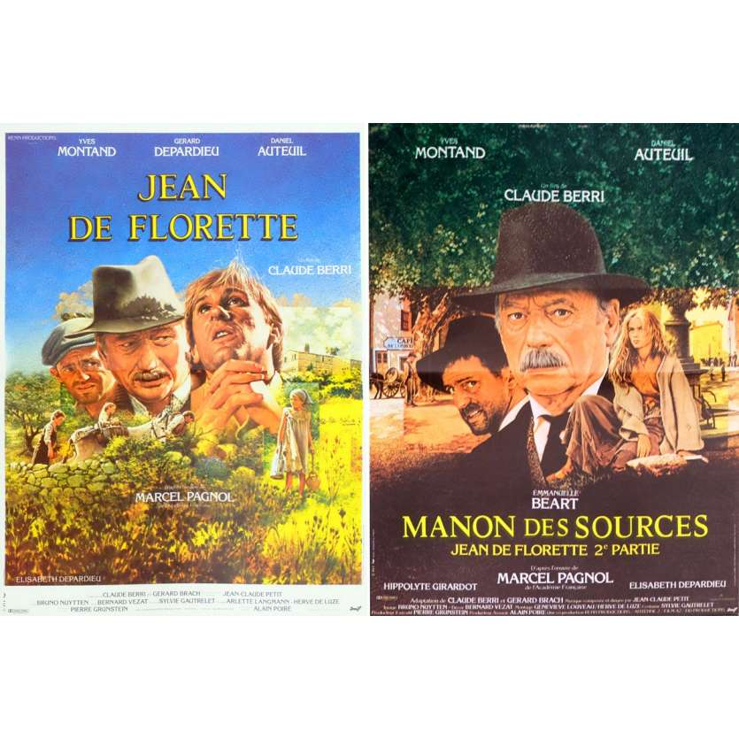JEAN DE FLORETTE/ MANON DES SOURCES French Movies Posters - 15x21 in. Marcel Pagnol