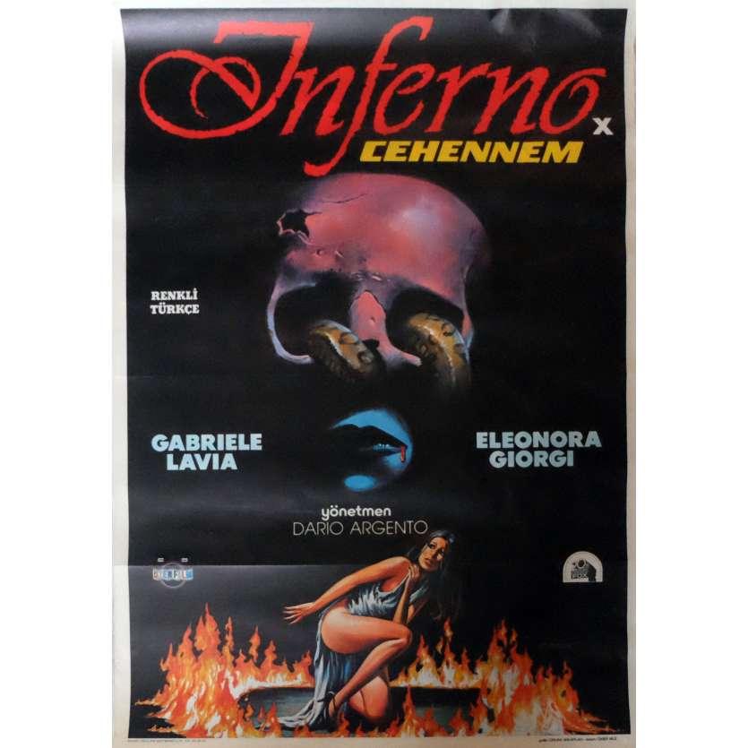 INFERNO Movie Poster 29x40 in. Turkish - 1980 - Dario Argento, Daria Nicolodi