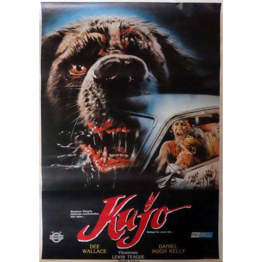 CUJO Movie Poster 29x40 in. Turkish - 1983 - Lewis Teague, Dee Wallace