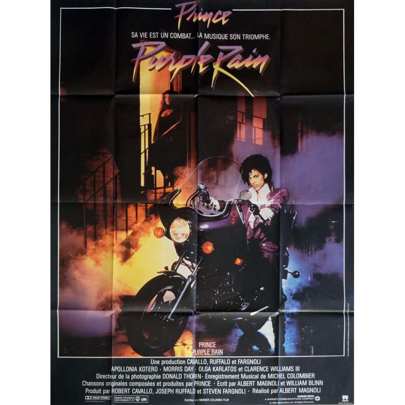 PURPLE RAIN Movie Poster 47x63 in. French - 1984 - Prince