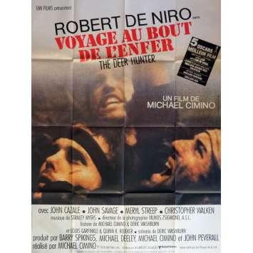VOYAGE AU BOUT DE L'ENFER Affiche de film Française 120x160 - 1979 - de Niro, Walken, Deer Hunter