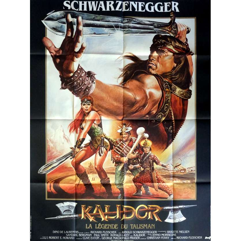 KALIDOR French Movie Poster 47x63 '85 Arnold Schwarzenegger