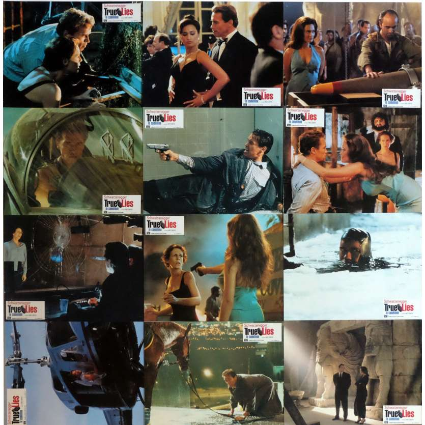 TRUE LIES French Lobby Cards x11 9x12 - 1994 - James Cameron, Arnold Schwarzenegger