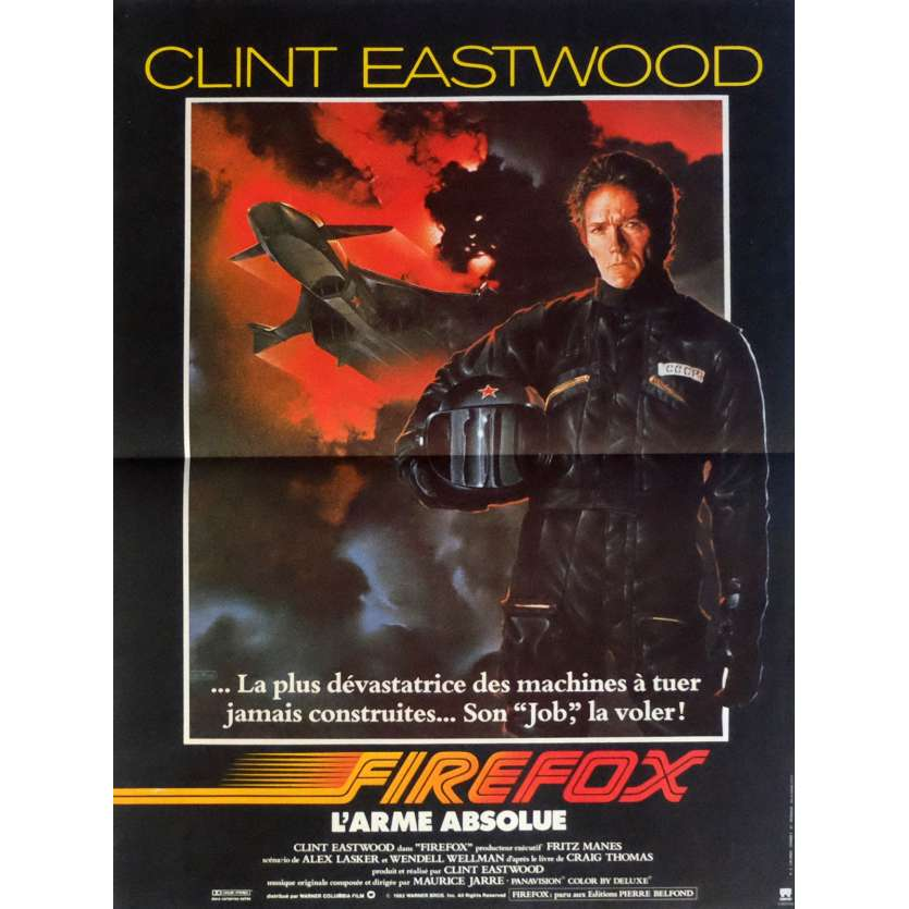 FIREFOX French Movie Poster 15x21- 1982 - Clint Eastwood, Clint Eastwood