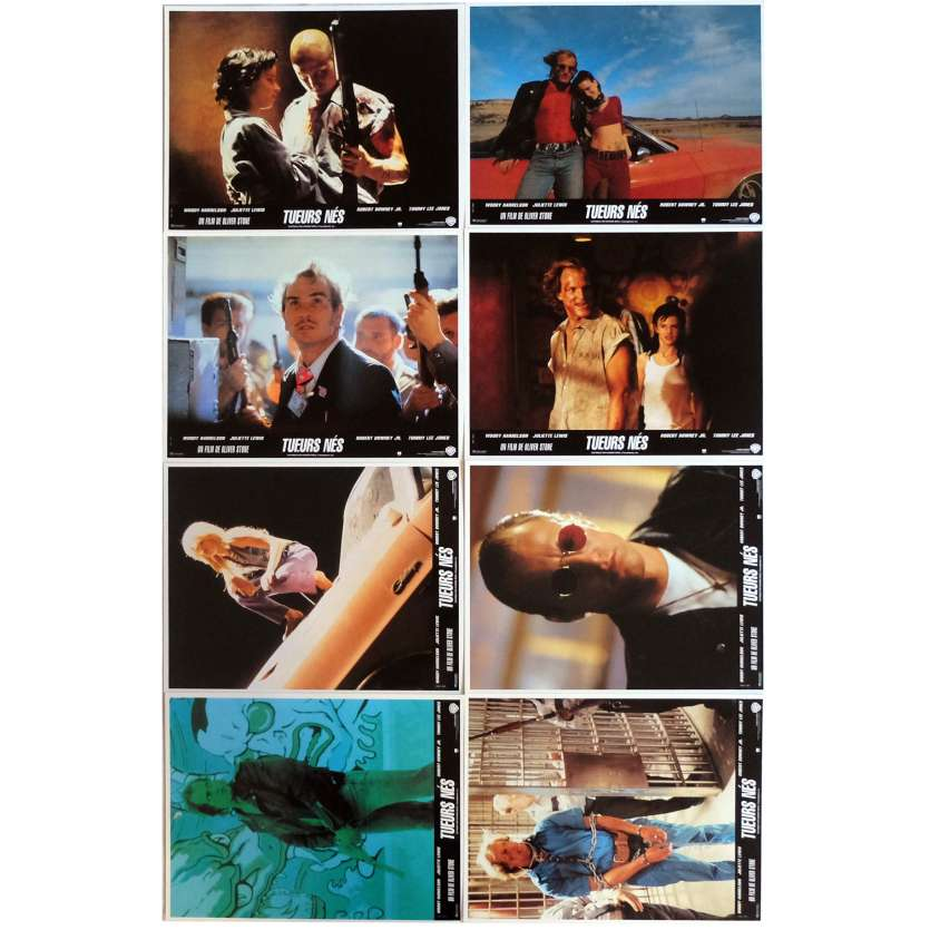 NATURAL BORN KILLERS Lobby Cards x8 9x12 in. French - 1994 - Oliver Stone, Woody Harrelson