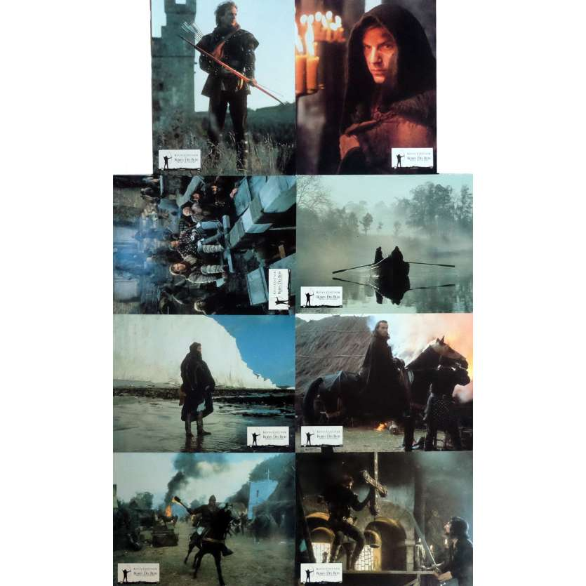 ROBIN HOOD Lobby Cards x16 9x12 in. French - 1991 - Kevin Reynolds, Kevin Costner