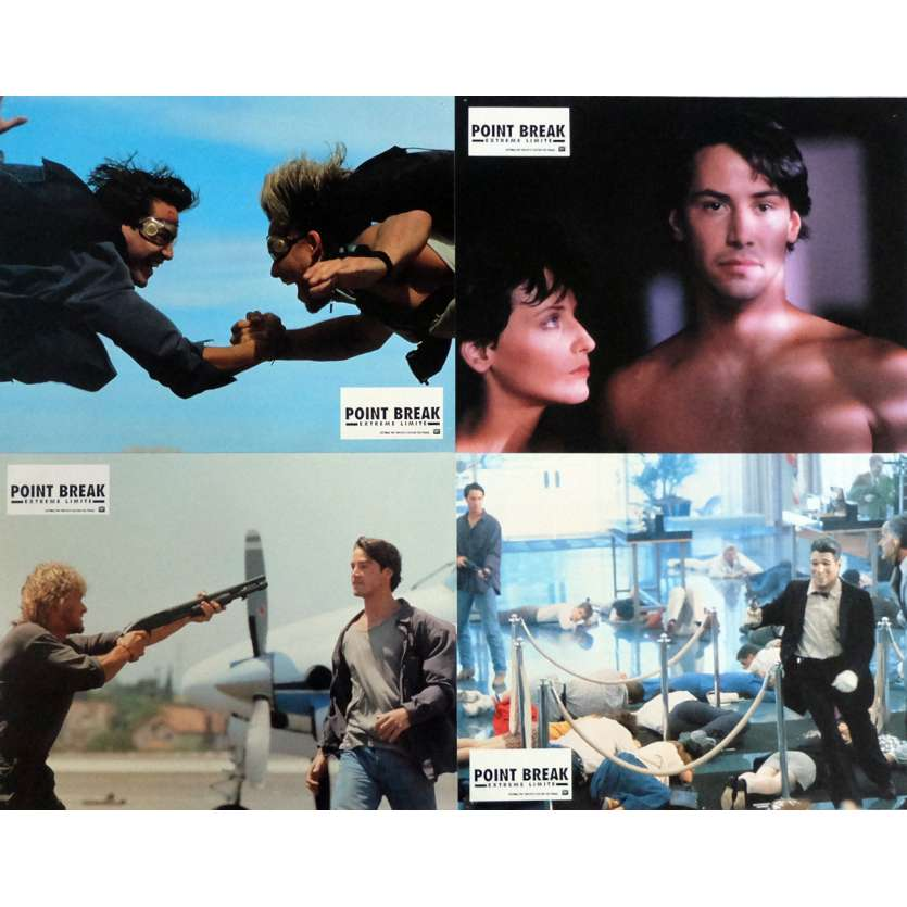 POINT BREAK Lobby Cards x4 9x12 in. French - 1991 - Kathryn Bigelow, Patrick Swayze