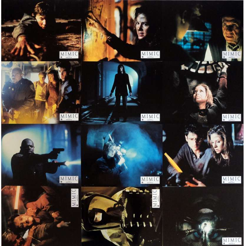 MIMIC Lobby Cards x12 9x12 in. French - 1997 - Guillermo del Toro, Mira Sorvino