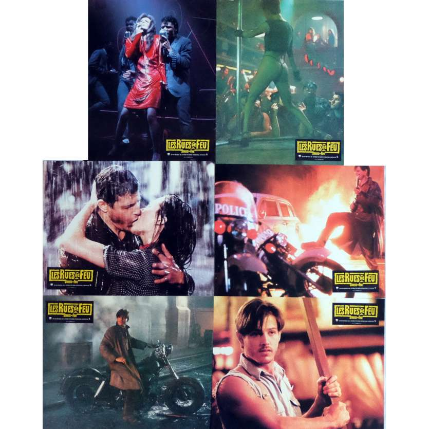 THE STREETS OF FIRE Lobby Cards x6, Jeu B 9x12 in. French - 1984 - Walter Hill, Michael Paré