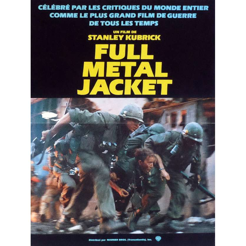 FULL METAL JACKET Movie Poster Mob. B 15x21 in. French - 1989 - Stanley Kubrick, Matthew Modine
