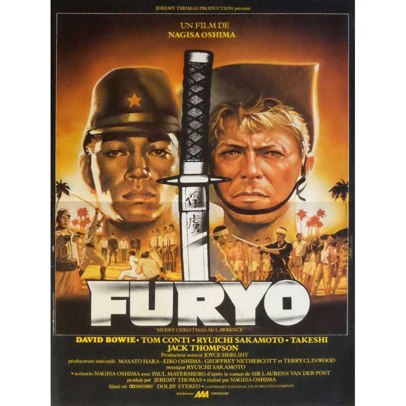 MERRY CHRISTMAS MR LAWRENCE Movie Poster 15x21 in. French - 1983 - Nagisa Oshima, David Bowie