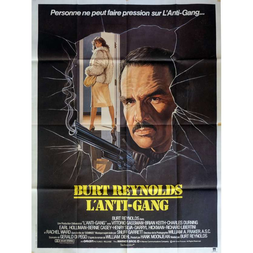 SHARKY'S MACHINE Movie Poster 47x63 in. French - 1981 - Burt Reynolds, Rachel Ward