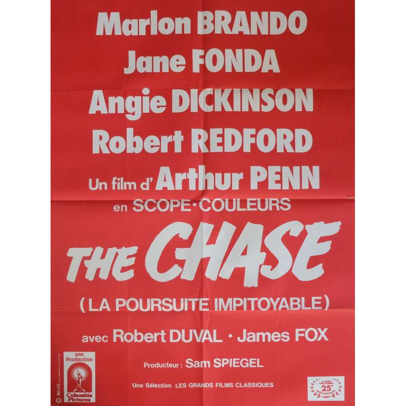 THE CHASE Movie Poster Mod. B 32x47 in. French - 1966 - Arthur Penn, Marlon Brando
