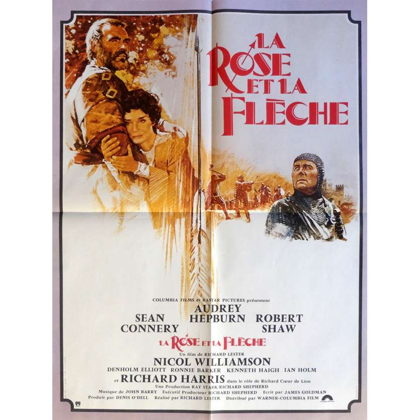 ROBIN AND MARIAN Movie Poster 23x32 in. French - 1976 - Richard Lester, Sean Connery