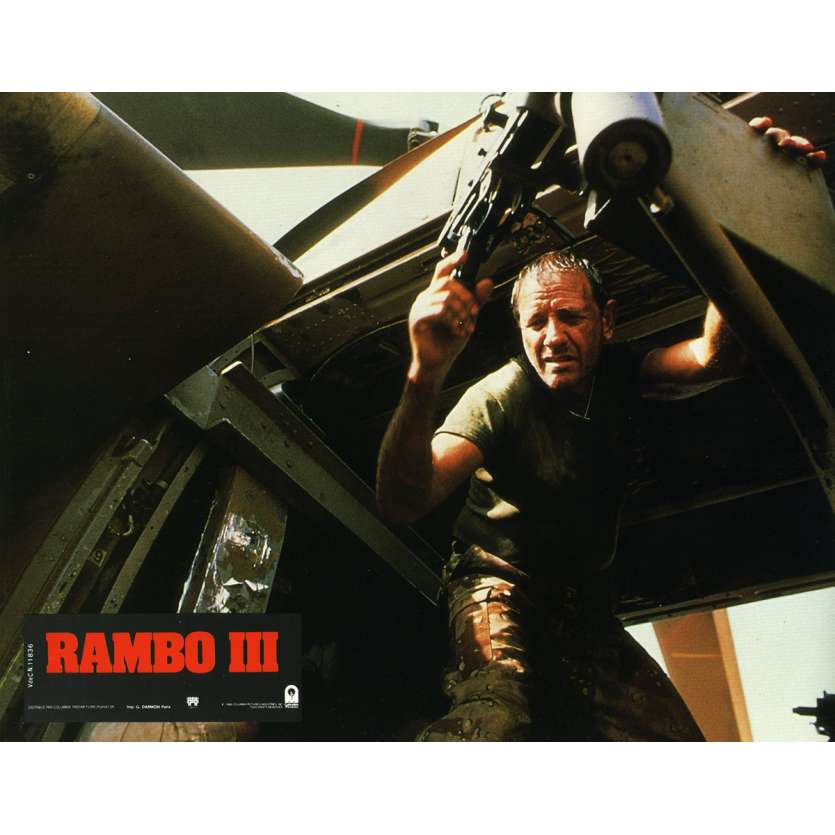 RAMBO 3 Lobby Card N18 9x12 in. French - 1988 - Sylvester Stallone, Richard Crenna