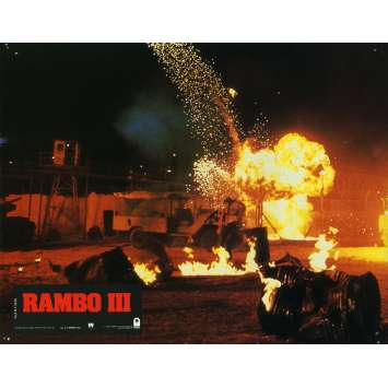 RAMBO 3 Lobby Card N15 9x12 in. French - 1988 - Sylvester Stallone, Richard Crenna