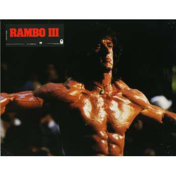 RAMBO 3 Lobby Card N14 9x12 in. French - 1988 - Sylvester Stallone, Richard Crenna