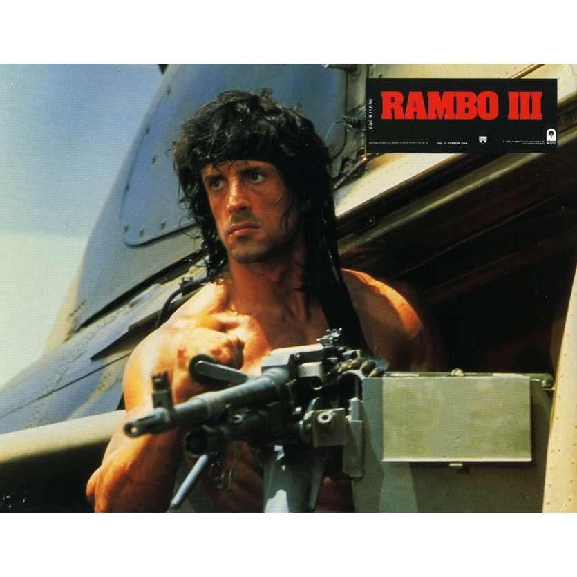 RAMBO 3 Lobby Card N12 9x12 in. French - 1988 - Sylvester Stallone, Richard Crenna