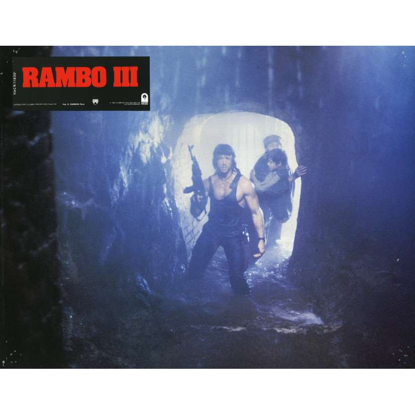 RAMBO 3 Lobby Card N11 9x12 in. French - 1988 - Sylvester Stallone, Richard Crenna